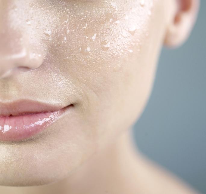 visible pores
