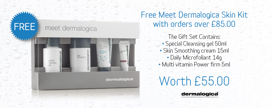 FREE! Meet Dermalogica Kit with Orders over £85.00