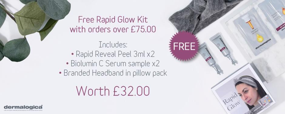 Free Dermalogica Rapid Glow Kit worth £32.00