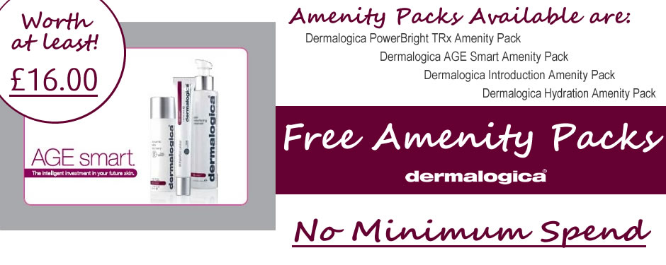 Free Dermalogica Amenity Pack Offer