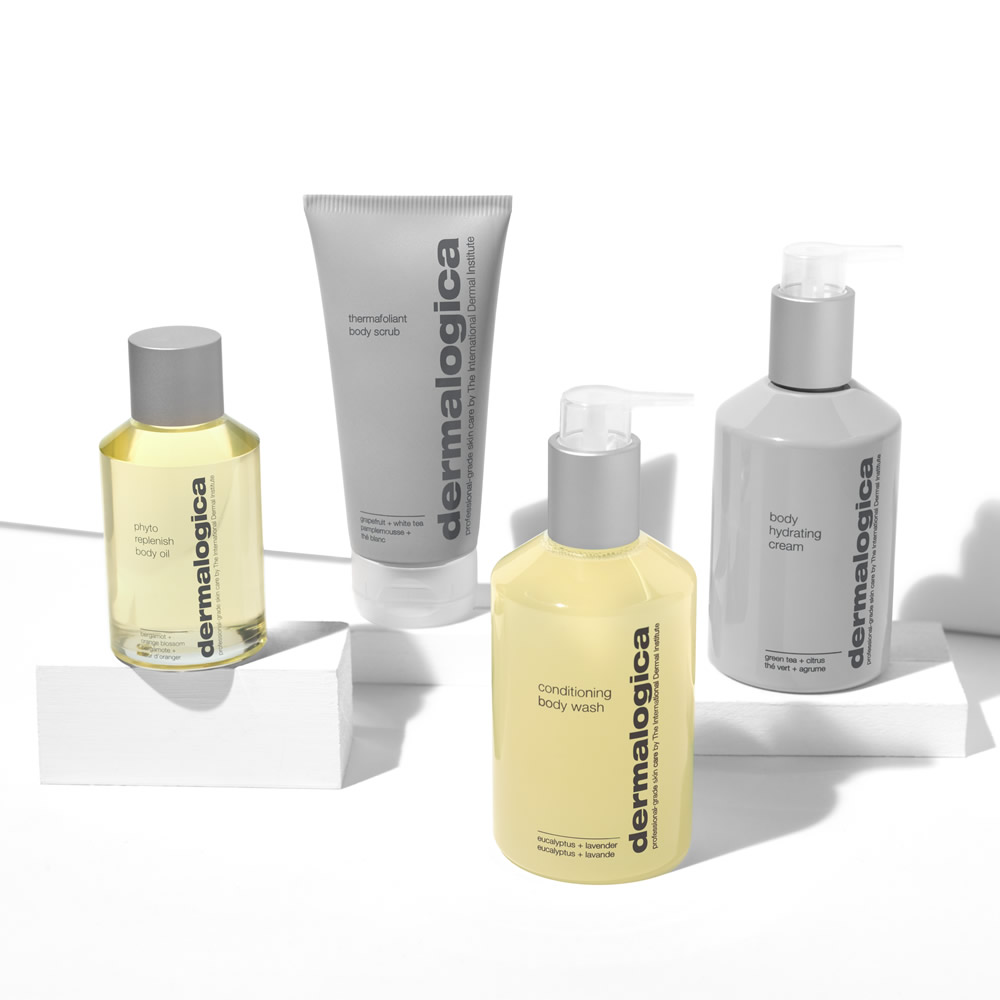 Dermalogica Body Collection Group Shot On Blocks