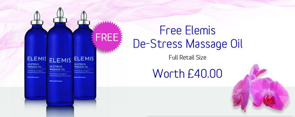 FREE! Elemis De-Stress Massage Oil
