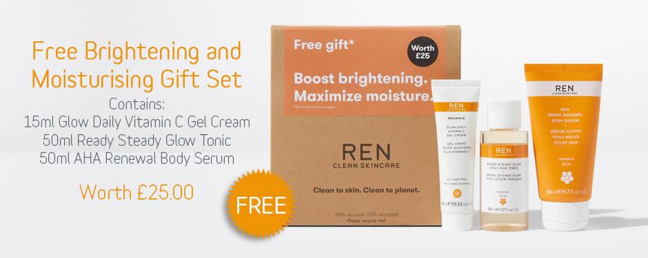 Free REN Brightening Moisturising Gift Set